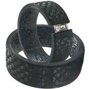 Hochzeitsringe aus Carbon mit Zirkonia Baguette