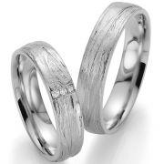 Trauringe aus Silber mit toller Oberfläche