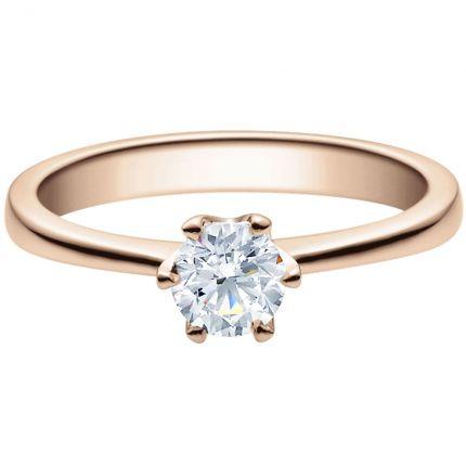 Verlobungsring 9918016 aus Rotgold mit 0,25 ct Brillanten