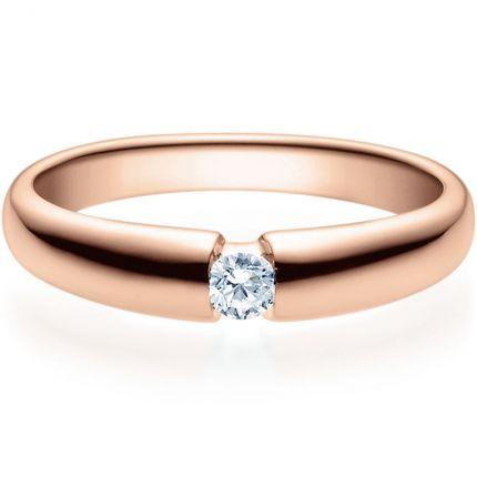 Verlobungsring 9918006 aus Rotgold mit 0,10 ct Brillant