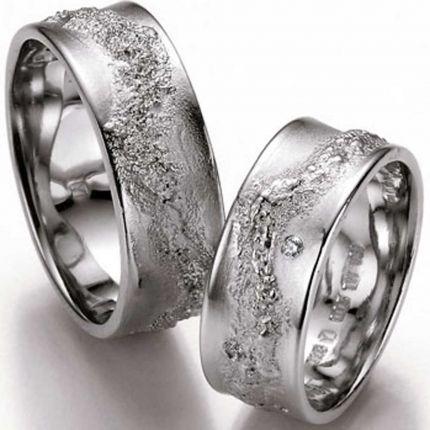 Breite außergewöhnliche Ringe aus Silber