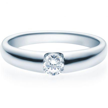 Verlobungsring 9918005 in Spannringoptik aus Platin mit 0,25 ct
