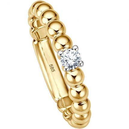 Ring 99EH004128 aus Gelbgold mit 0,15 ct Brillant