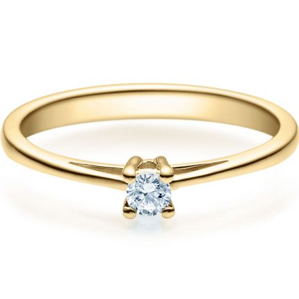 Verlobungsring 9918010 aus Gelbgold mit 0,10 ct TW/SI Brillant