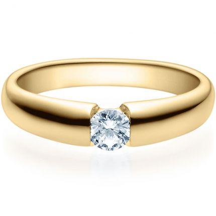 Verlobungsring 9918006 aus Gelbgold mit 0,25 ct Brillant