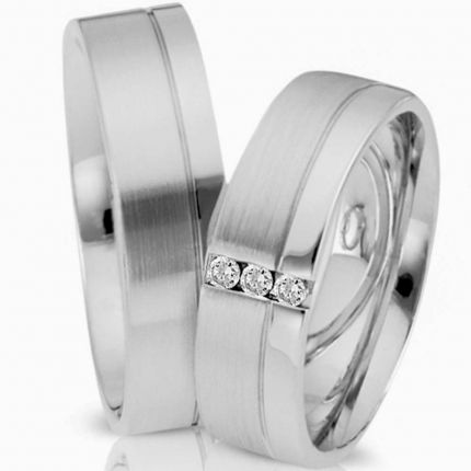 Ringpaar 99474 aus Silber mit Zirkonia