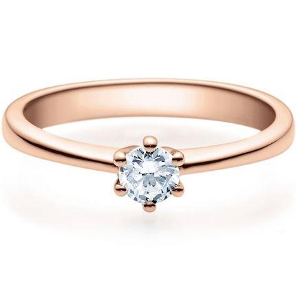 Verlobungsring 9918001 mit 0,25 ct Brillant aus Rotgold