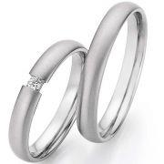 Ringpaar 9988/23030-035 aus Edelstahl mit Spannring