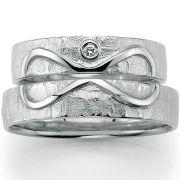 Trauringe mit Unendlichkeits - Symbol aus Silber