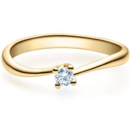 Verlobungsring 9918011 aus Gelbgold mit 0,10 ct Brillant