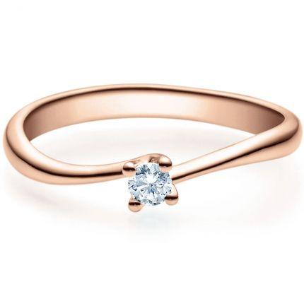 Verlobungsring 9918011 aus Rotgold mit 0,10 ct Brillant