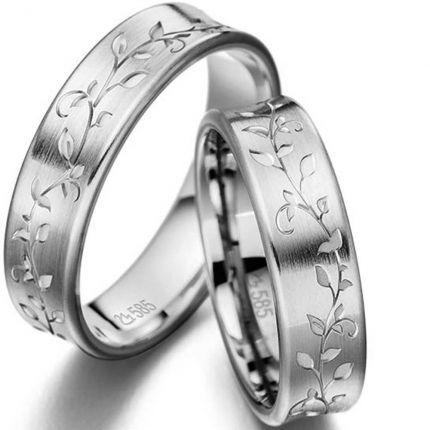 Trauringe / Partnerringe Blätterspiel aus Silber