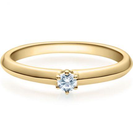 Verlobungsring 9918003 aus Gelbgold mit 0,10 ct Brillant