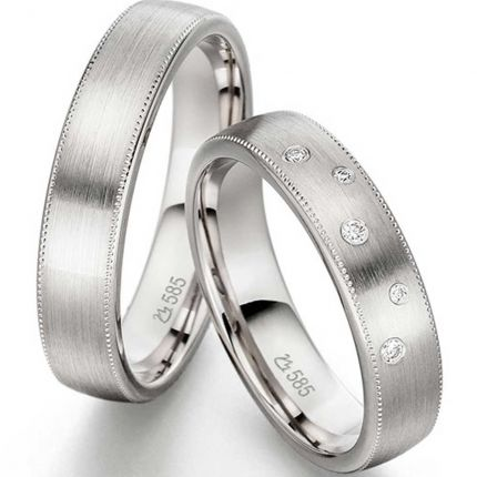 Trauringe / Partnerringe Millgriff aus Silber