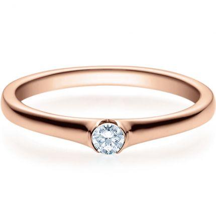Verlobungsring 9918022 aus Rotgold mit 0,10 Brillant