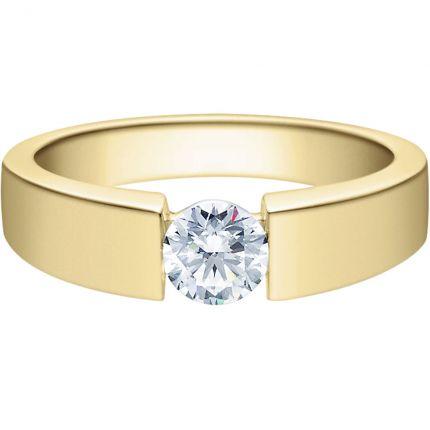 Verlobungsring 9918012 aus Gelbgold mit 0,5 ct Brillanten