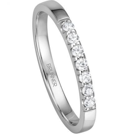 Vorsteckring Memoire Ring mit 7 Brillanten zu einem sensationellen Preis