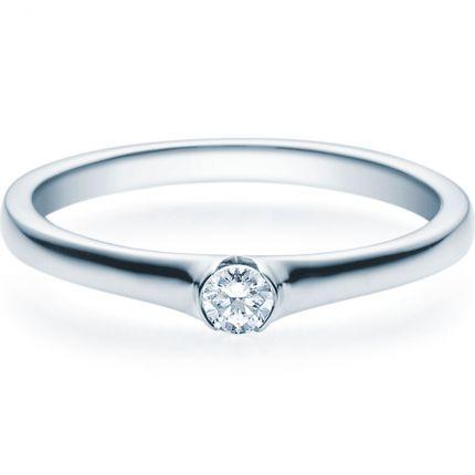Verlobungsring 9918022 aus Weißgold mit 0,10 Brillant