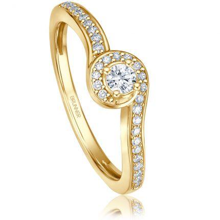 Wunderschöner Verlobungsring mit 31 Brillanten aus Gelbgold