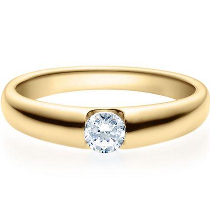 Verlobungsring 9918005 in Spannringoptik aus Gelbgold mit 0,25 ct