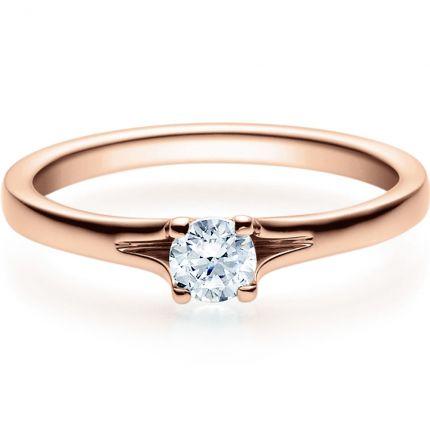 Verlobungsring 9918020 aus Rotgold mit 0,25 ct Brillant