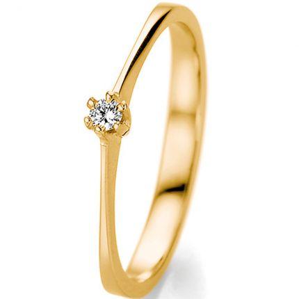 Eleganter Verlobungsring aus Gelbgold zu einem sagenhaften Preis