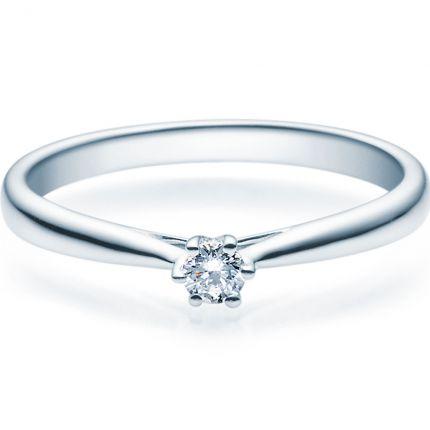 Verlobungsring aus 925er Silber mit 0,10 ct in wunderschöner 6er Krappe