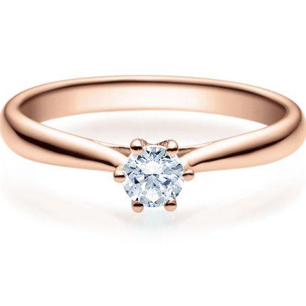 Verlobungsring 9918007 aus Rotgold mit 0,25 ct Brillant