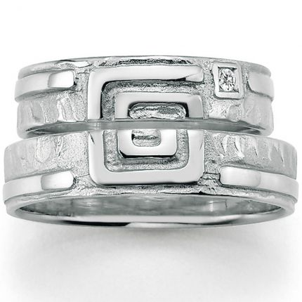 Trauringe mit Symbol aus Silber