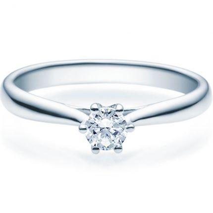 Verlobungsring 9918007 aus Weißgold mit 0,25 ct Brillant
