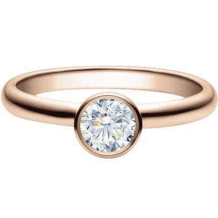 Verlobungsring 9918019 mit 0,5 ct GIA Brillanten aus Rotgold