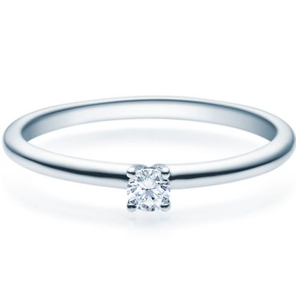 Verlobungsring 9918018 aus Weißgold mit 0,10 ct Brillant