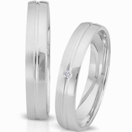 Ringpaar 994141 aus Weißgold mit Brillant