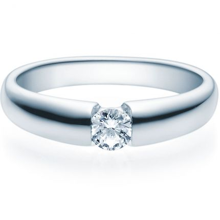 Verlobungsring 9918006 aus Weißgold mit 0,25 ct Brillant