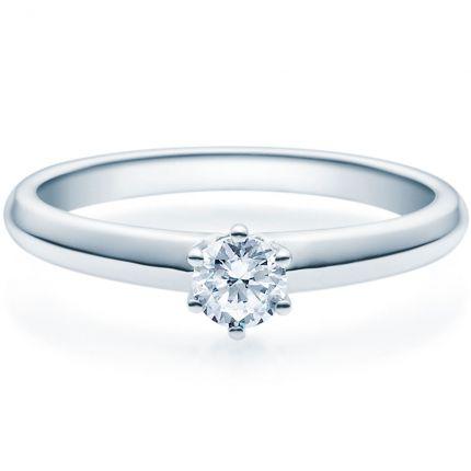 Verlobungsring 9918003 aus Platin 950 mit 0,25 ct Brillant