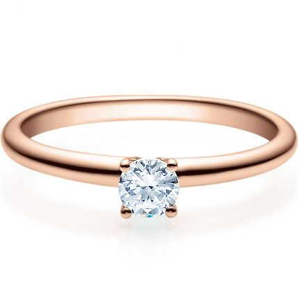 Verlobungsring 9918018 aus Rotgold mit 0,25 ct TW/SI Brillant