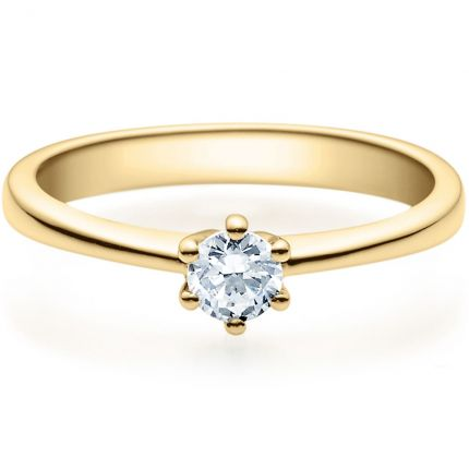 Verlobungsring 9918001 mit 0,25 ct Brillant aus Gelbgold