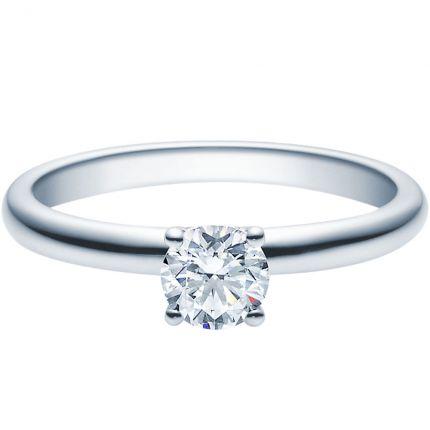 Verlobungsring 18018 aus Platin 950 mit 0,5 ct Brillant