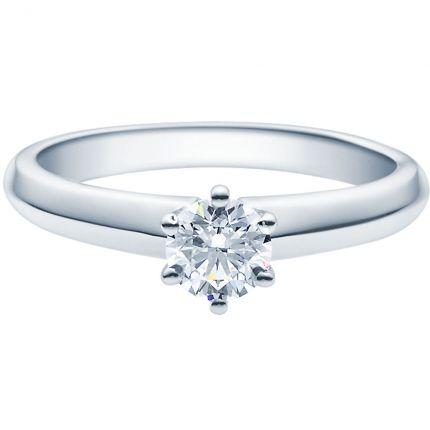 Verlobungsring 9918003 aus Weißgold mit 0,5 ct Brillant