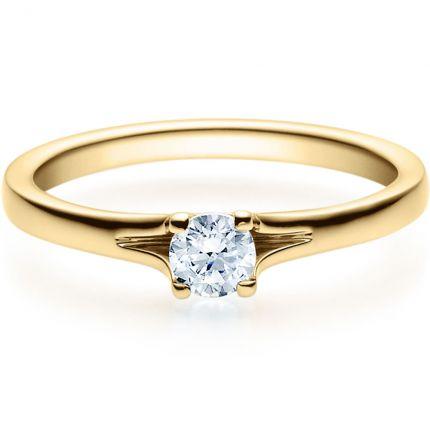 Verlobungsring 9918020 aus Gelbgold mit 0,25 ct Brillant