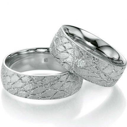 Ausgefallene Eheringe Silber breit