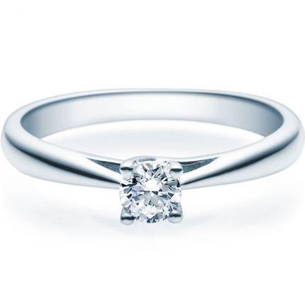 Verlobungsring 9918002 aus Weißgold mit 0,25 ct Brillant in 4er Krappe