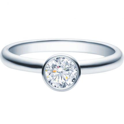 Verlobungsring 9918019 mit 0,5 ct GIA Brillanten aus Weißgold