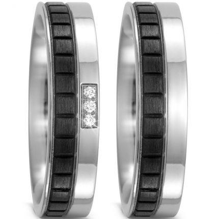 Ringpaar mit außergewöhnlichem Carbon und Titan