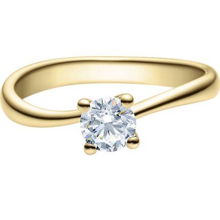 Verlobungsring 9918011 aus Gelbgold mit 0,5 ct Brillant
