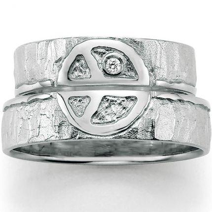 Trauringe mit tollem Symbol aus Silber