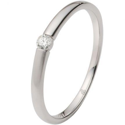 Verlobungsring in Spannringoptik mit 0,06 ct Brillanten