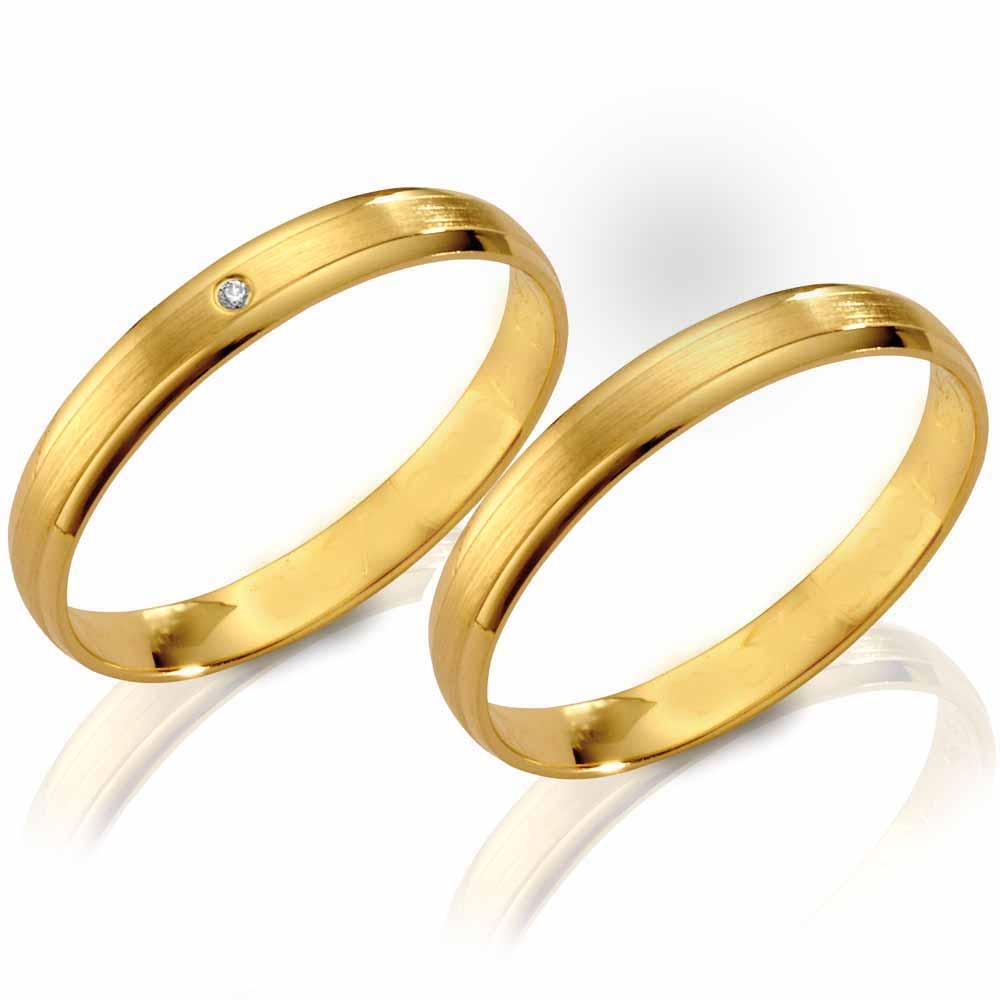 Schöne und zugleich günstige Eheringe aus Gelbgold!