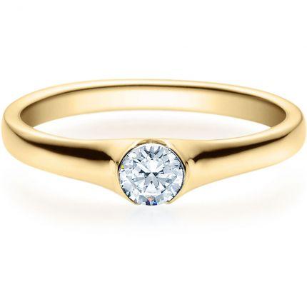 Verlobungsring 9918022 aus Gelbgold mit 0,25 ct Brillant