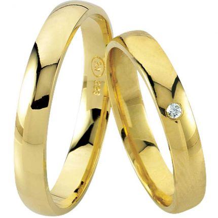 Ringpaar 99R801 aus 333er Gelbgold